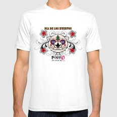 Berto: Dia de los muertos (Day of the dead) White SMALL Mens Fitted Tee