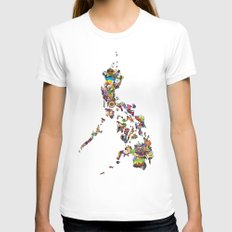 7,107 Islands   A Map of the Philippines Womens Fitted Tee White SMALL