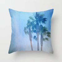 Summer. Palms Throw Pillow