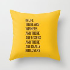 Life Losers Throw Pillow