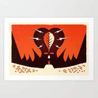 My Heart Began To Pound … Art Print