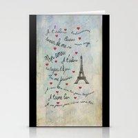 Paris Amour Valentines Design  Stationery Cards