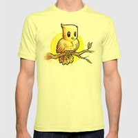 Stop Overthinking This Gosh Darn Crap and Just Draw a Bird! Mens Fitted Tee Lemon SMALL