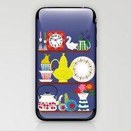 iPhone & iPod Skin featuring Scandinavian Shelf Colle… by Elisandra