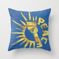 Moar Peace Throw Pillow