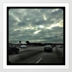 Clouds on the freeway. Art Print