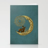 moon Stationery Cards featuring Moon Travel by Eric Fan