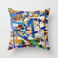Óscar (stripes 23) Throw Pillow