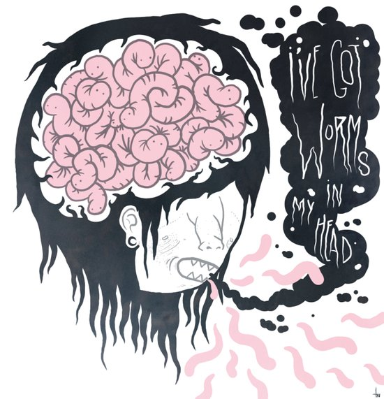 ive got worms in my head Art Print
