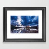 Stormy Skies Over Eilean… Framed Art Print