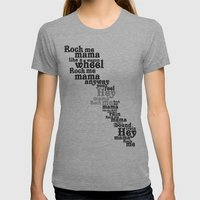 Rock Me Mama Womens Fitted Tee Athletic Grey SMALL