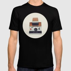 SX-70 POLAROID  Black SMALL Mens Fitted Tee