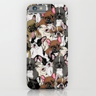 iPhone & iPod Case featuring Social Frenchies by Huebucket