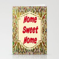 Stained Glass Home Sweet Home  Stationery Cards