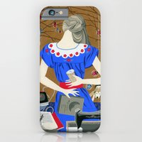 Lady in a blue dress iPhone 6 Slim Case
