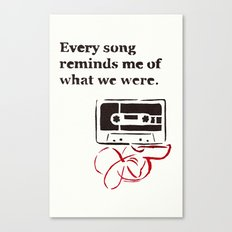 Love Mix Tape Canvas Print