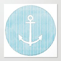 Anchor in Blue Canvas Print
