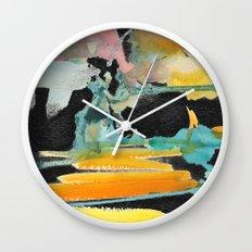 Abstract watercolour Wall Clock