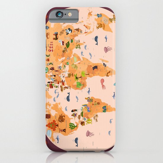 Worldwide map for kids. iPhone & iPod Case