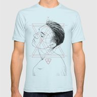 Face Facts I Mens Fitted Tee Light Blue SMALL