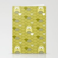 owl pattern Stationery Cards