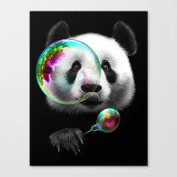 PANDA BUBLEMAKER Canvas Print