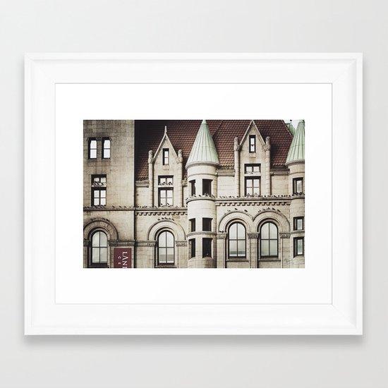 Life on the Ledge Framed Art Print