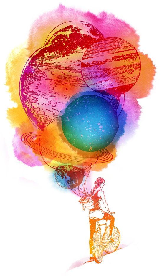 Travel Space Art Print