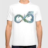 Water Dragon Mens Fitted Tee White SMALL