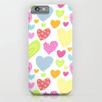iPhone & iPod Case featuring spring hearts by Berreca
