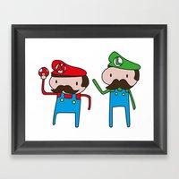 Mario Bros. Framed Art Print