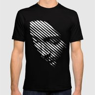 Face Lines Mens Fitted Tee Black SMALL
