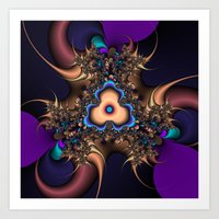 abstract thorn fractal Art Print