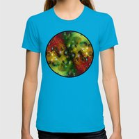 Cosmic Timewarp Womens Fitted Tee Teal SMALL