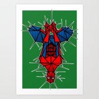 Abstract webslinger Art Print
