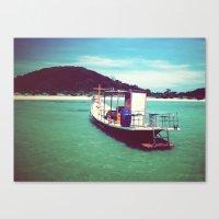 Longboat, Thailand Canvas Print