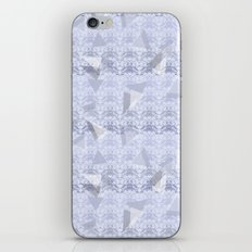 Floral Lace Collection - Blue iPhone & iPod Skin