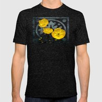 Iceland poppy  Mens Fitted Tee Tri-Black SMALL