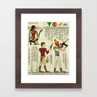 Hero-glyphics: Browncoats Framed Art Print
