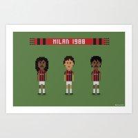 AC Milan 1988 Art Print