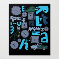Réveils animés Canvas Print