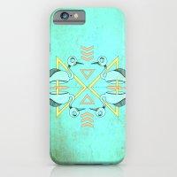 Aztec swan iPhone 6 Slim Case