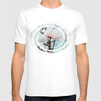Matilija White Poppies Mens Fitted Tee White SMALL