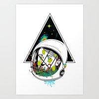 Space Gummies Art Print