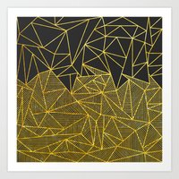 Bullion Rays (gold) Art Print