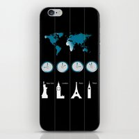 TIME ZONES. NEW YORK, LO… iPhone & iPod Skin