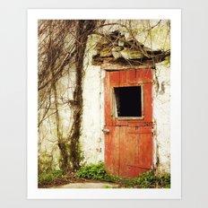 Red Door Art Print