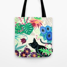 Natures Confetti Cat  Tote Bag