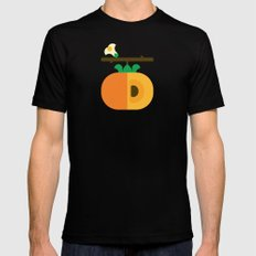 Fruit: Persimmon Mens Fitted Tee SMALL Black