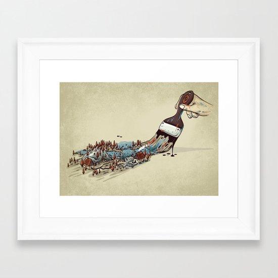 Nature Brush Framed Art Print